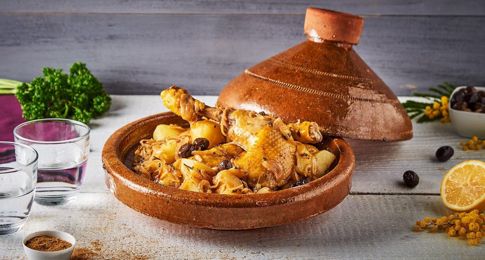 Recette traditionnelle marocaine : tajine de poulet aux épices